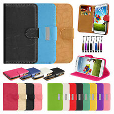 Luxury Stylish Book Flip Wallet Leather Case Cover For SAMSUNG Galaxy S4 i9500