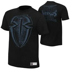 Roman Reigns One Versus All WWE Authentic Mens Black T-shirt