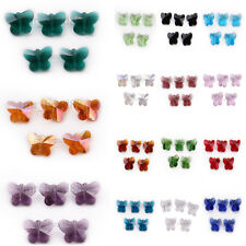 Lampwork Faceted Glass Crystal Butterfly Design Beads Spacer Finding Charms 14mm
