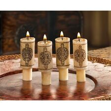 WINE BOTTLE CANDLE CORK - PACK OF 4 - SCENTED