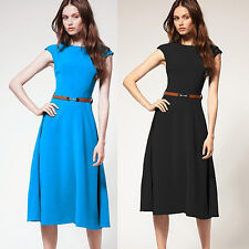 OL Housewife RETRO Evening Short Dress Prom Festival Party Clubwear Skirts Gown