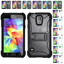 For Samsung Galaxy S5 Rugged Hybrid Heavy Duty Armor Kickstand Cover Case