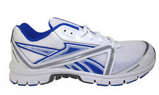 Reebok  Men's Ultimatic White / Blue / Grey Leather And Mesh Running Shoes