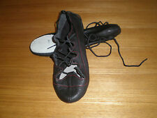 NEW-BLACK LEATHER HIGHLAND/IRISH DANCE SHOES ADULT SIZE 8.5  9  9.5 10 10.5 & 11