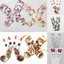 Animal And Food Printed Unisex Cotton Casual High Socks Men Women Harajuku Hot
