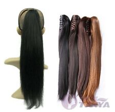 """16""""-24"""" Ponytail with claw clips 100% Indian Human Hair extension"""