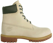 Timberland AF 6 Inch Premium Mens Boys Cream Leather Lace Up Boots (44522 D94)