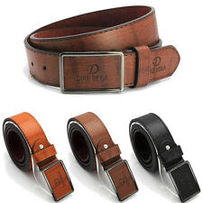 Men Metal Buckle Leather Waistband Vintage Classic Pin Buckle Belts New Perfect