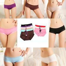 Solid Color Women Modal Cotton Panties Soft Seamless Briefs Knickers Underwear