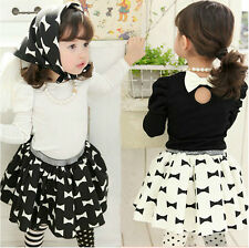 Kids Toddler Girls Clothing Contain Scarf Tops Tutu Dress Outfits Sets Sz2-7Y