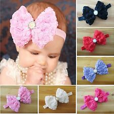 New Cute Kid Girls Baby Toddler Infant Flower Headband Hair Bow Band Accessories