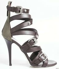 new $750 Giuseppe ZANOTTI brown strappy SPIKED buckled GLADIATOR shoes - SEXY