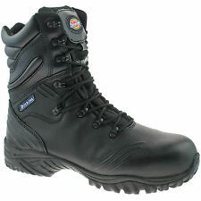 REDUCED MENS DICKIES URBAN HI SAFETY WORK BOOTS LEATHER FC9507 BLACK UK 3-12