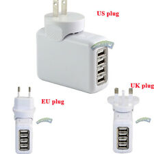 4 Port USB Travel Home Wall Power Charger Adapter US/EU/UK Plug For iPhone Ipod