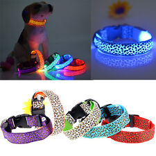 ❤CHEAP SALABLE❤ Flash Pets Dogs Collar LED Night Visible Glows Strap Belts S M L