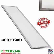 36W LED Ceiling Panel Light 300 x 1200 x 12mm - 6500k Cool White Office Lighting