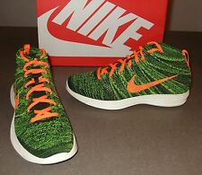 NEW NIKE LUNAR FLYKNIT CHUKKA SHOES NIKE FLYKNIT CHUKKA 554969-080 ORANGE