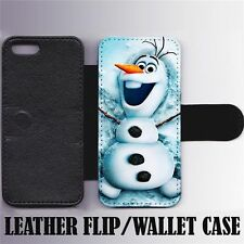 Disney Frozen Leather Wallet/Flip Phone Case Cover for iPhone Samsung Card slots