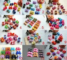 HotSale Choose 12 Designs Dog Hair Bows Pet Dog Grooming Hair Clips Accessories