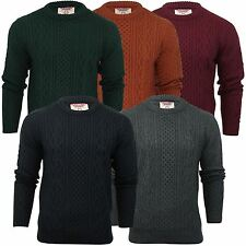 Mens Jumper Tokyo Laundry 'Marcus' Cable Knit Basket Stitch Crew Neck Sweater