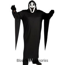 CL2 Howling Ghost Face Scary Halloween Fancy Dress Mens Adult Costume