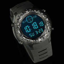 INFANTRY Mens Digital Quartz Military Alarm Sport Wrist Watch Outdoor Survival