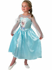 CHILDRENS KIDS FROZEN PRINCESS ELSA FANCY DRESS COSTUME OUTFIT CHEAP FREE P&P