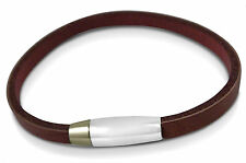 Ladies / women's faux leather bracelet, personalised engraved + gift box - LR5