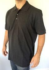 New HUGO BOSS Black Label Men Classic Polo 3 Buttons Short Sleeve Gray T Shirt