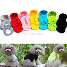 Pet Dogs Solid Sweater Coat Clothes Puppy Cat Hoodie Warm Jackets Clothing S-XXL