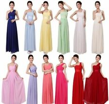 Attractive Women's Party Wedding Bridesmaid Prom Ball Full length Formal Dress