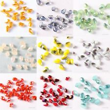 Top Quality 100pcs Czech Glass Crystal Teardrop Loose Faceted Beads 3MM Hot Sale