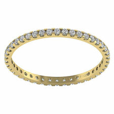 Eternity Wedding Stackable Ring Band 0.50Ct Real Diamond Jewelry 14K Yellow Gold