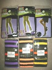 Totally Ghoul & Holiday Inspirations Tights. OSFM Purple Orange Fishnet Yellow