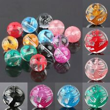 Rock Crystal Quartz Gemstone Stone Carved Coloured Dragon Round Ball Loose Beads