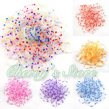 600Pc Polka Dot Refill Rainbow Loom Rubber Bands 24 Clips Hook DIY Bracelet Tool