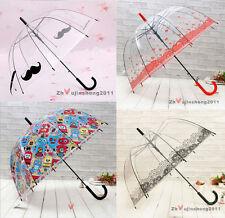 Unique Princess Transparent Umbrella Long Handle Umbrella Many Pattern Choose