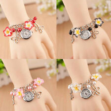 New Fashion Ladies Colorful Clay Flower Bracelet Quartz Watch Cheap Fashion