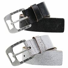 Mens Belt Voi Jeans 'Kraken' Cracked Real Leather Belt