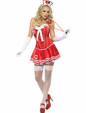 Ladies Fever Naughty Nurse Outfit Sexy Hen Party Fancy Dress Costume