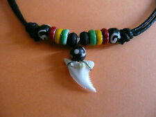 Shark Tooth Pendant Necklace teeth surf surfer gift mens womens unisex jewellery