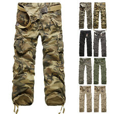Army Cargo New Cotton Trousers Men's Military Casual Camo Pants