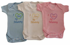 I Love My Mummy Baby Vest Grow Babies Cute Funny Gift Special Offer
