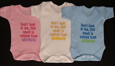 Don't Look At Me That Smell Is Grandad Baby Vest Grow Funny Gift Special Offer