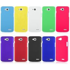For LG Dual SIM L90 D410 -Hard Rubberized Plastic Matte Snap On Phone Cover Case