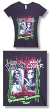 Alice Cooper/Rob Zombie- NEW JUNIORS/BABY DOLL V-NECK T Shirt- (L,XL)FREE SHIP!