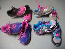 JUMPING BEANS ATHLETIC SNEAKERS PINK PURPLE SILVER SHOES GIRLS SZ 2