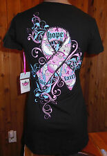 new KATYDID BREAST CANCER AWARENESS pink ribbon SHIRT TOP LOVE HOPE FAITH stones