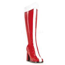 Wonder Woman Super Girl Red White Drag Queen Costume Knee Hi Boots size 11 12
