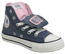 Converse Double Tongue Hi Top Lace Up Canvas Youths Girls Trainers (300646 U2)